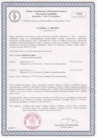 certifikát stankovské párky